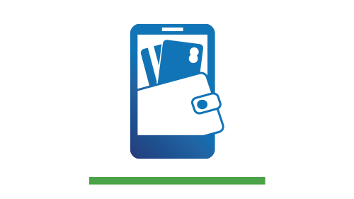 DIGITAL WALLET:  Make fast, secure, digital payments in-store, in-app, or online using your mobile device.